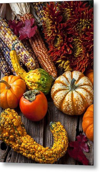 Autumn Still Life Colors Metal Print