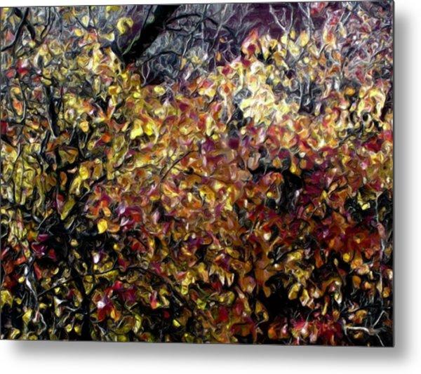 Autumn Window Metal Print