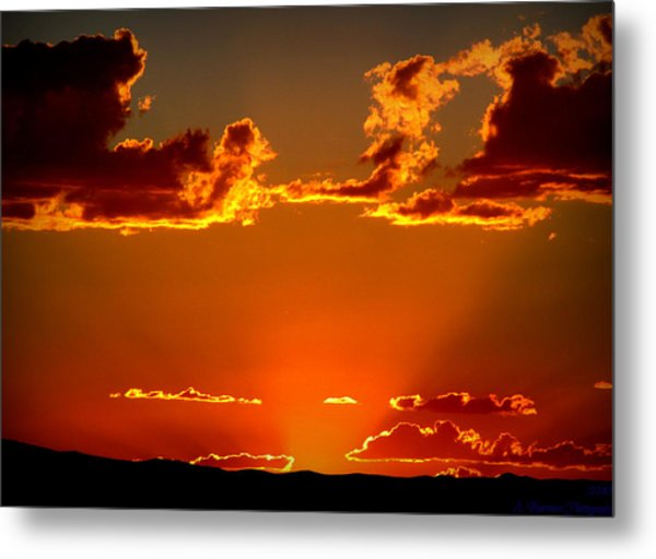 Autumn's Sunset Metal Print by Aaron Burrows