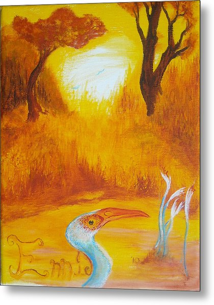 Autumnul Mother Evening Metal Print