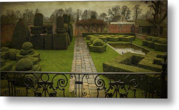 Avebury Manor Topiary Metal Print