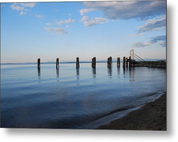 Awaiting The Ferry Metal Print by Tiffany Ball-Zerges