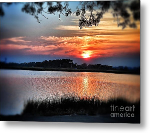 Awesome Sunset Metal Print by Claire Reilly