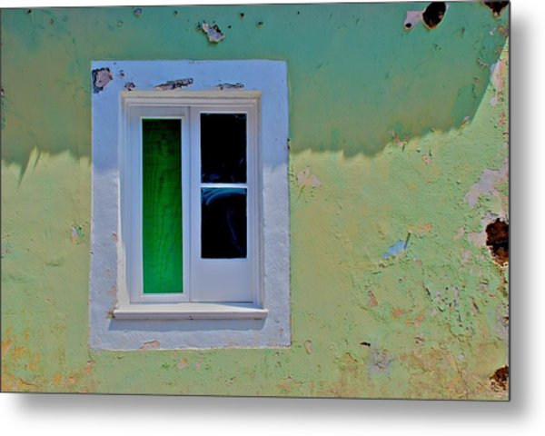 Azores Window Metal Print