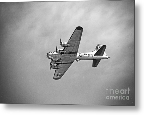 B-17 Bomber - Dust And Scratch Metal Print