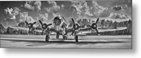 B-17 Metal Print by Williams-Cairns Photography LLC