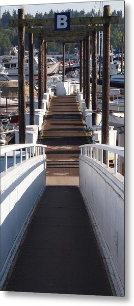 B Dock Metal Print by Jim Moore