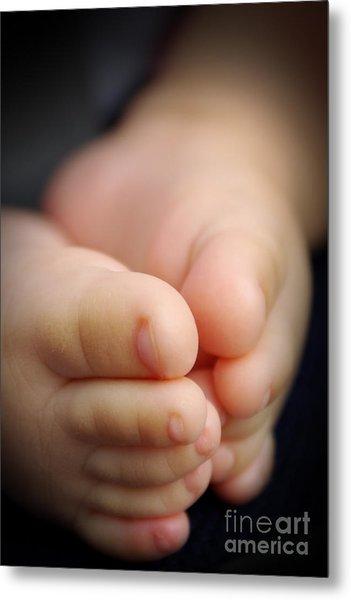 Baby Feet Metal Print