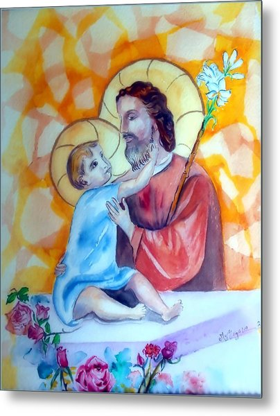 Baby Jesus  Metal Print by Myrna Migala