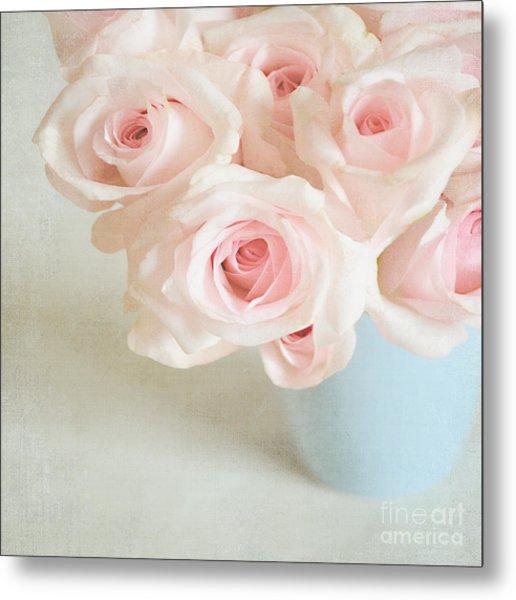 Baby Pink Roses Metal Print
