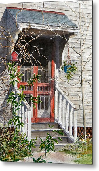 Back Door Friends  Sold Metal Print