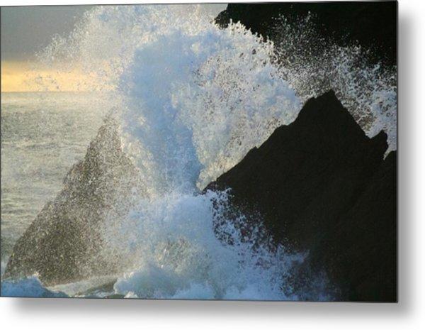 Backlit Wave 2 Metal Print