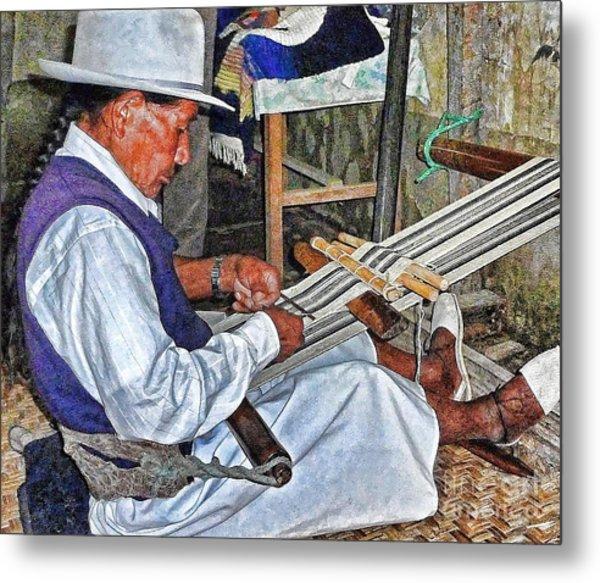 Backstrap Loom - Ecuador Metal Print