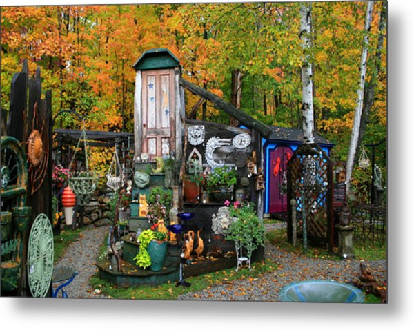 Backyard Craft Show Metal Print