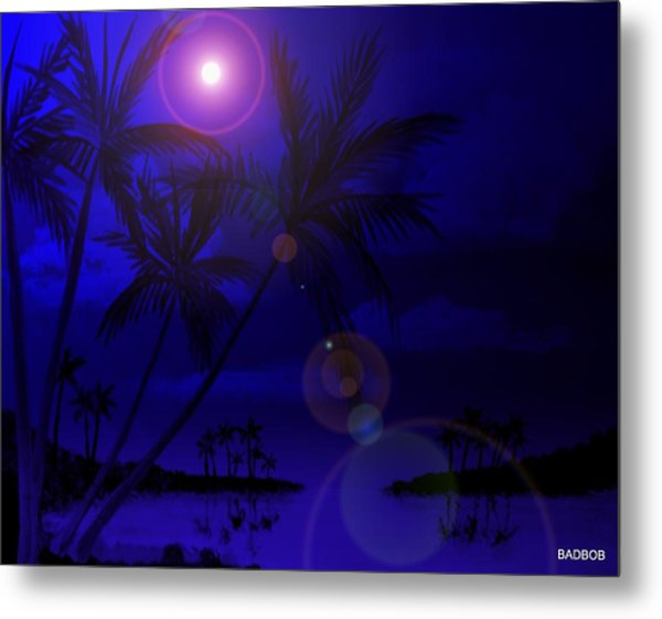 Bad Moon Shinning Metal Print