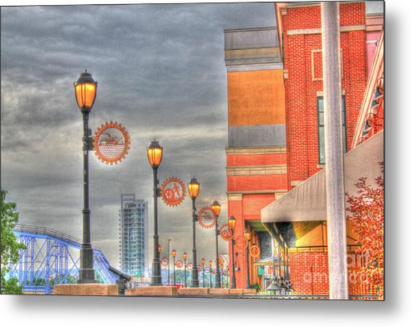 Balcony At Newport On The Levee Metal Print