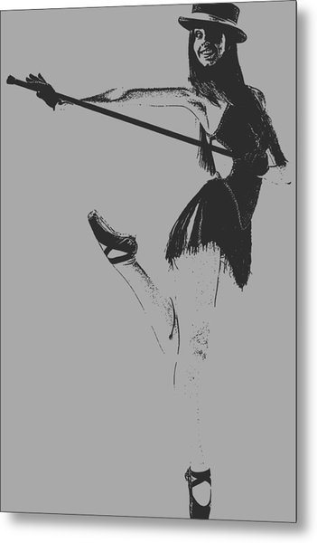 Ballet Girl Metal Print by Naxart Studio