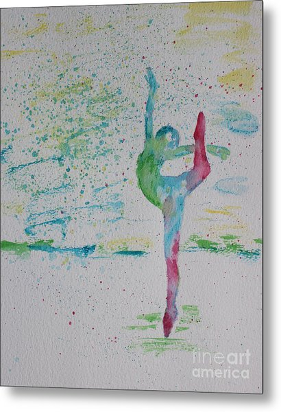 Ballet Pointe 2 Metal Print by Carolyn Weir