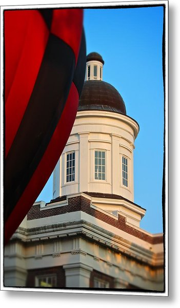 Balloon And Dome Of The Canton Courthouse Metal Print