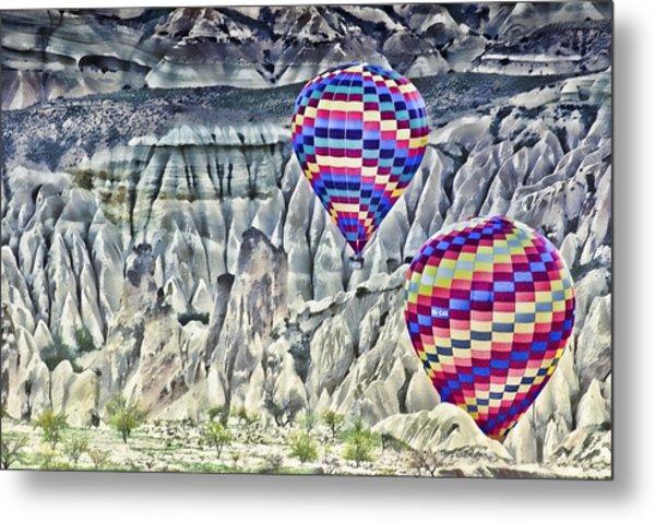 Balloon Rides In Cappadocia Metal Print by Beverly Hanson