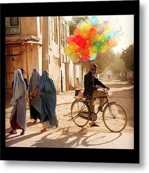 Balloons In Afghanistan Metal Print