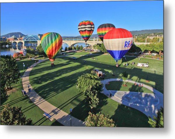 Balloons In Coolidge Park Metal Print