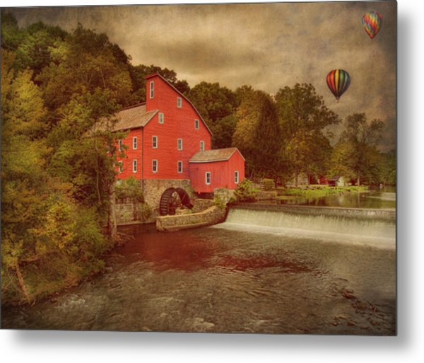 Balloons Over Clinton Metal Print