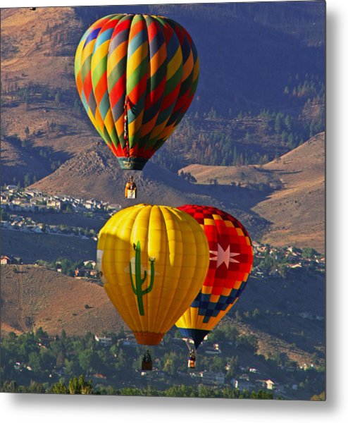 Balloons Over Reno Metal Print