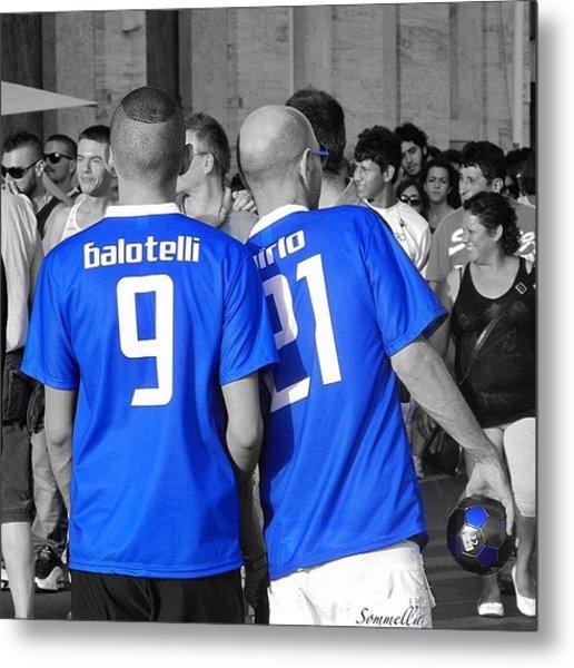 Balotelli E Pirlo, Gaypride 2012 Metal Print