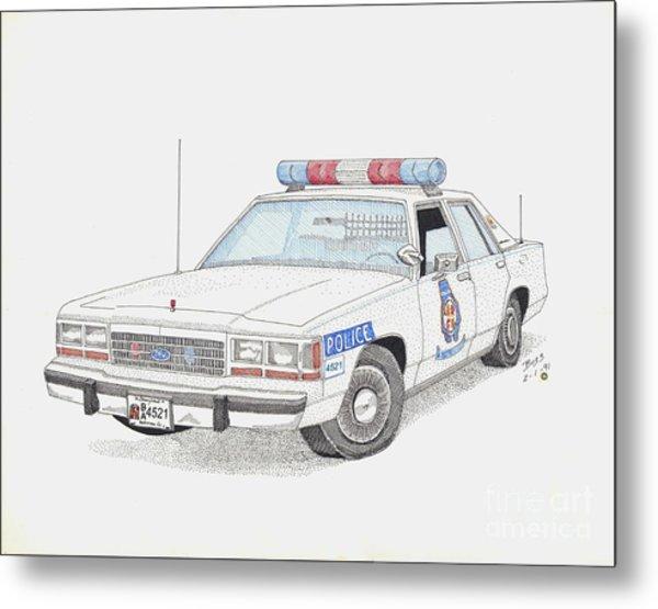 Baltimore County Police Car Metal Print by Calvert Koerber