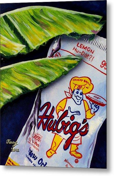 Banana Leaf Series-hubigs Pie Metal Print by Terry J Marks Sr
