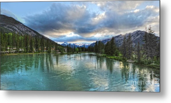 Banff And The Bow River - 01 Metal Print by Gregory Dyer