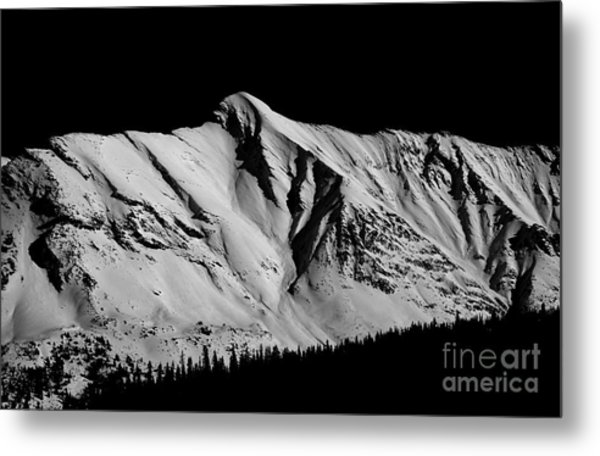 Banff National Park Monochrome Metal Print by Terry Elniski