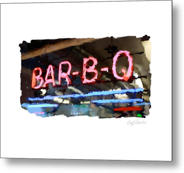 Bar-b-q Metal Print by Geoff Strehlow