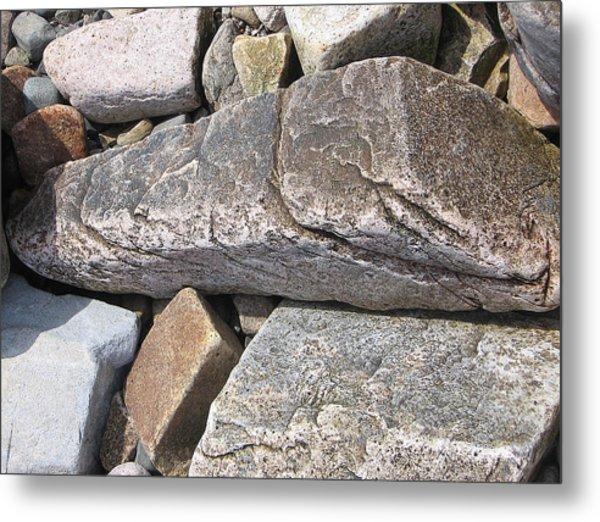 Bar Harbor Maine Rocks Metal Print
