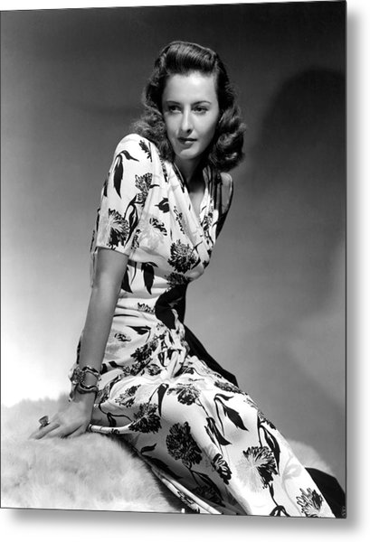Barbara Stanwyck By Hurrell, 1940 Metal Print by Everett