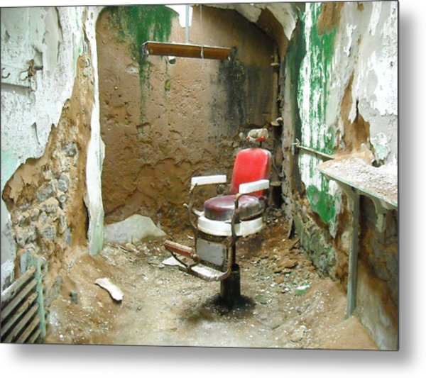 Barber's Cell Metal Print by Christophe Ennis