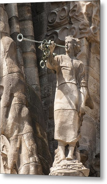 Barcelona Church Sagrada Familia Nativity Facade Detail Metal Print by Matthias Hauser