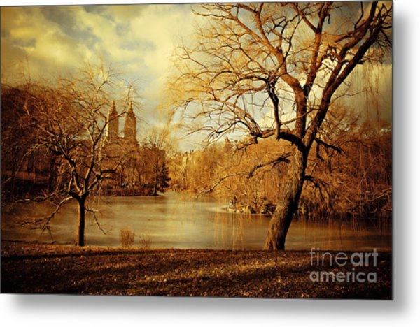 Bare Beauty In Central Park Metal Print