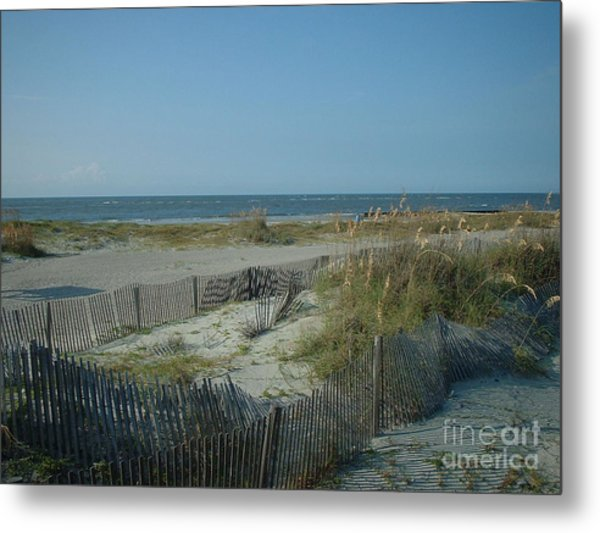 Barely Fenced Metal Print