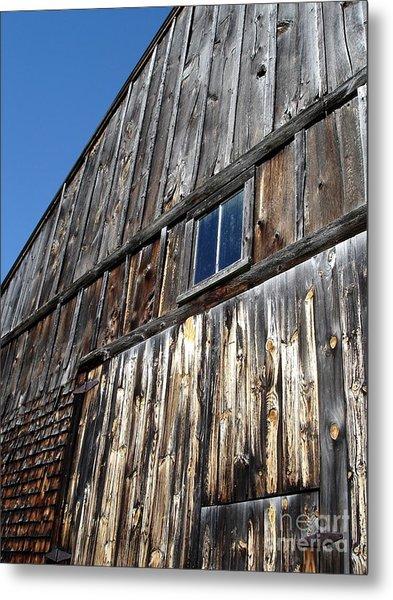Barn End Looking Up Metal Print