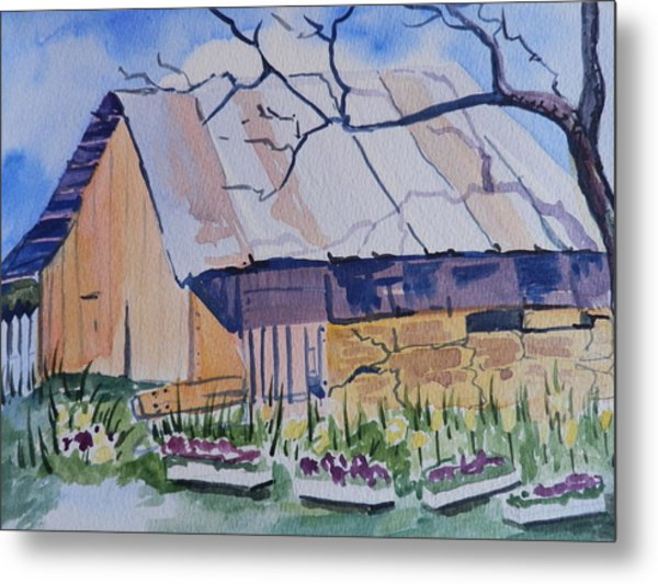 Barn Near Payson Metal Print