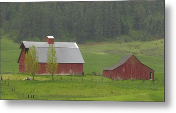 Barns Of The Palouse 5 Metal Print by Tony and Kristi Middleton