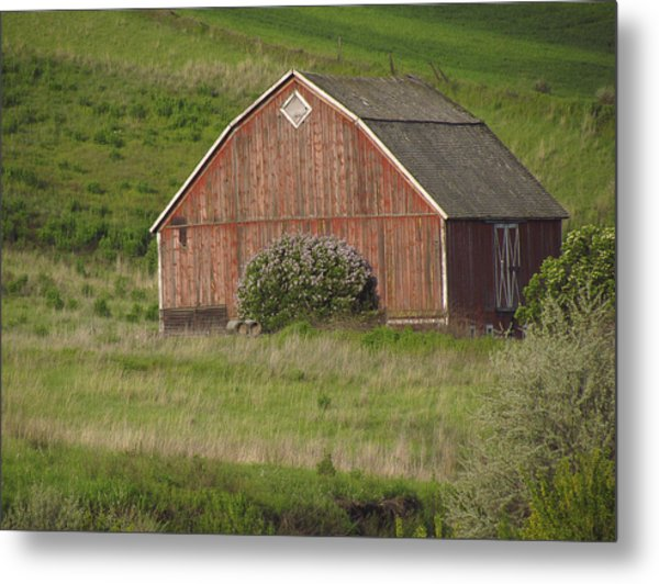 Barns Of The Palouse 6 Metal Print by Tony and Kristi Middleton