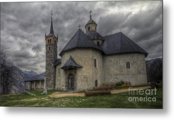 Baroque Church In Savoire France 6 Metal Print