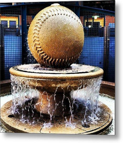Baseball Statue Metal Print