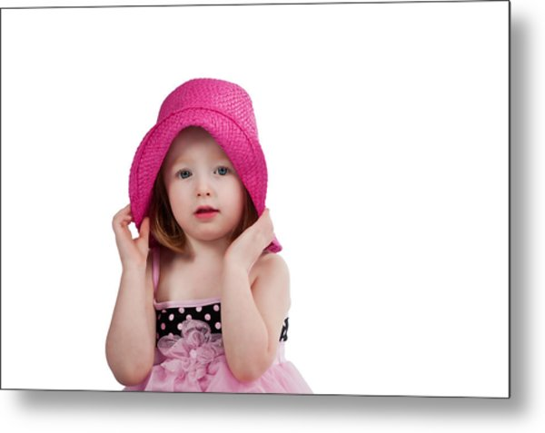 Bashful Girl Metal Print