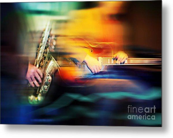 Basic Jazz Instruments Metal Print