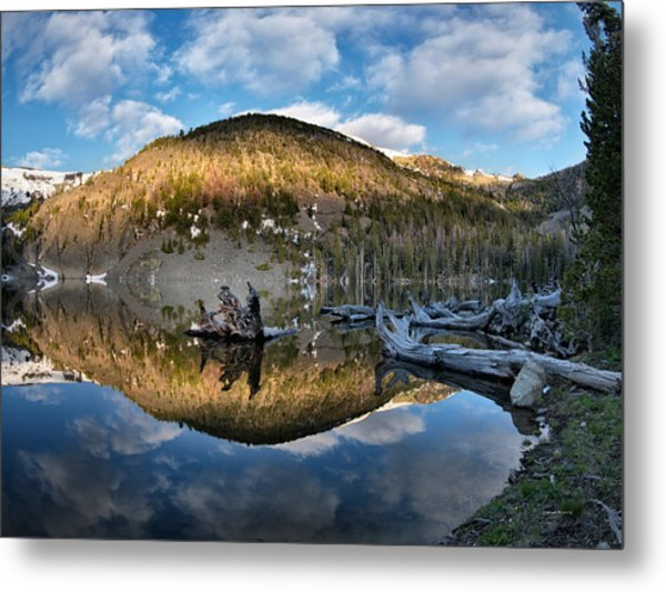 Basin Lake Sunrise Metal Print by Leland D Howard