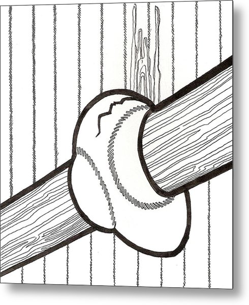 Bat And Ball Egg Metal Print